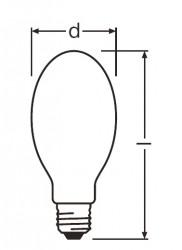 Лампа натриевая высокого давления - Philips SON Comfort 150W