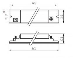ЭПРА для газоразрядных ламп Philips HID-EXC 66 SOX - E 220-240V