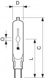 Лампа Philips металлогалогенная с керамической горелкой MASTERC CDM-TC Elite 70W/942
